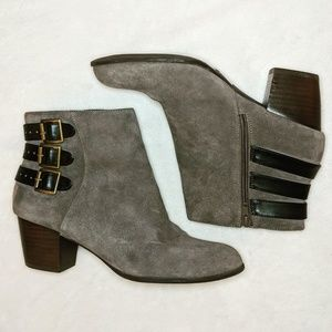 Sole Society Gray Suede Ankle Bootie size 9